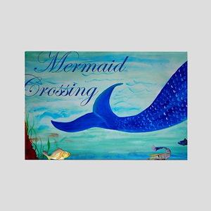 Mermaid Crossing Rectangle Magnet