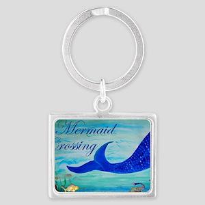 Mermaid Crossing Landscape Keychain