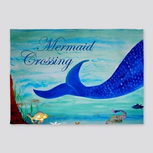 Mermaid Crossing 5'x7'Area Rug
