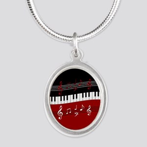 Stylish Piano keys and musical notes Necklaces