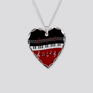 Stylish Piano keys and musical notes Necklace