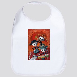 Mexican skeleton musicians Bib