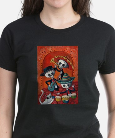 Mexican skeleton musicians T-Shirt