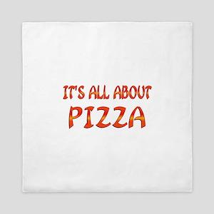 All About Pizza Queen Duvet
