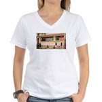 More Cell Phone Charges Women's V-Neck T-Shirt