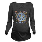 peace_n_buts2 Long Sleeve Maternity T-Shirt