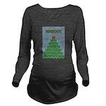 peace_xmas_tree Long Sleeve Maternity T-Shirt