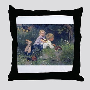 Spending Time With Big Brother Throw Pillow