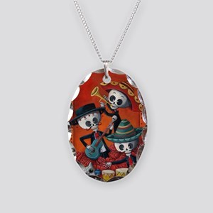 Mexican skeleton musicians Necklace