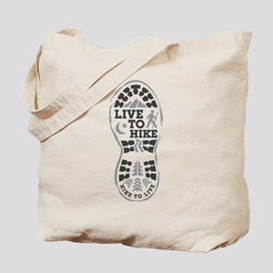 Live To Hike Tote Bag