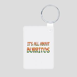 All About Burritos Aluminum Photo Keychain