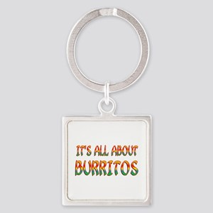 All About Burritos Square Keychain
