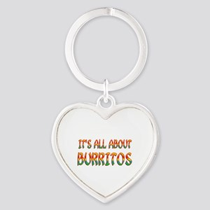 All About Burritos Heart Keychain