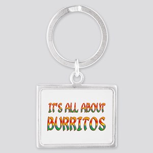 All About Burritos Landscape Keychain