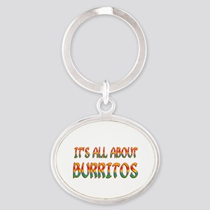 All About Burritos Oval Keychain