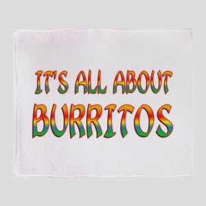 All About Burritos Throw Blanket