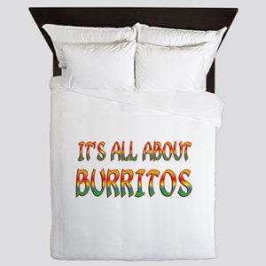 All About Burritos Queen Duvet