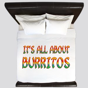 All About Burritos King Duvet