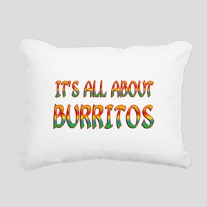 All About Burritos Rectangular Canvas Pillow