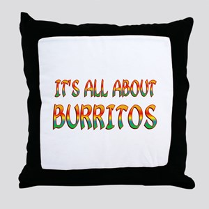 All About Burritos Throw Pillow