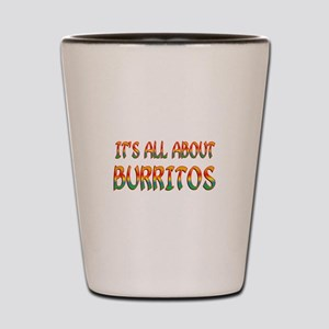 All About Burritos Shot Glass