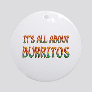 All About Burritos Ornament (Round)