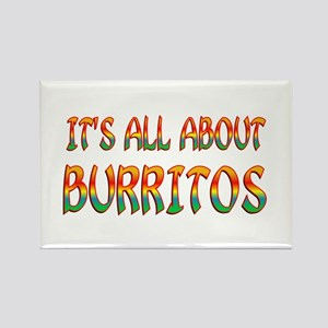 All About Burritos Rectangle Magnet