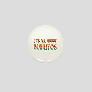 All About Burritos Mini Button