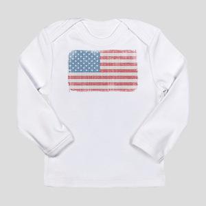 Vintage American Flag Long Sleeve Infant T-Shirt
