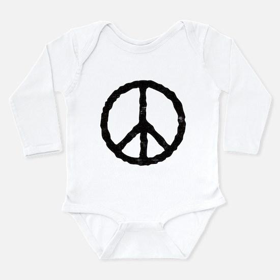 peace_v.png Long Sleeve Infant Bodysuit