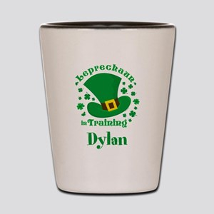 Personalized Leprechaun In Training Shot Glass