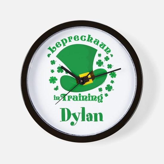 Personalized Leprechaun In Training Wall Clock