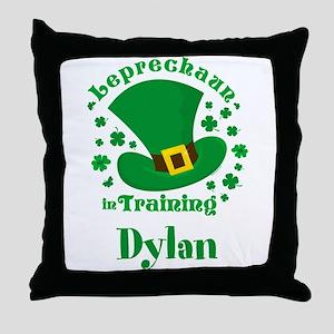 Personalized Leprechaun In Training Throw Pillow