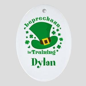 Personalized Leprechaun In Trainin Ornament (Oval)