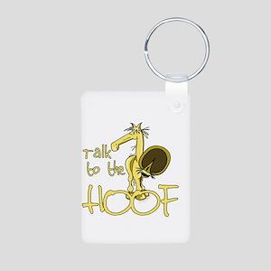 Talk to the Hoof Aluminum Photo Keychain