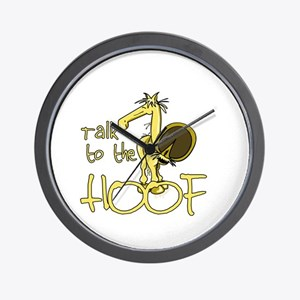 Talk to the Hoof Wall Clock
