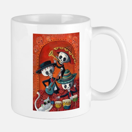 Mexican skeleton musicians Mugs