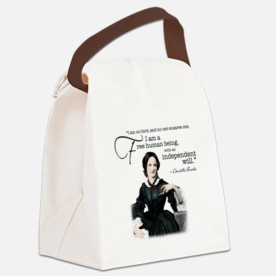 Charlotte Bronte Canvas Lunch Bag