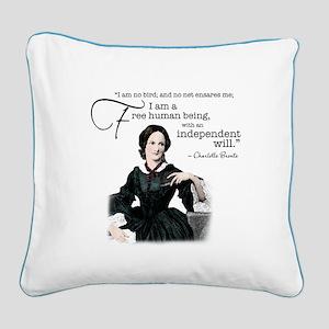 Charlotte Bronte Square Canvas Pillow