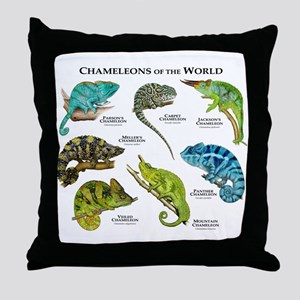 Chameleons of the World Throw Pillow