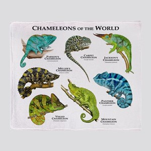 Chameleons of the World Throw Blanket