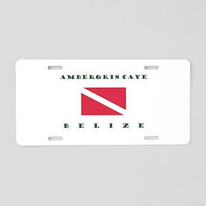Ambergris Caye Belize Dive Aluminum License Plate