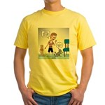 Tinkles Scratching Post Yellow T-Shirt