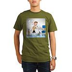 Tinkles Scratching Po Organic Men's T-Shirt (dark)