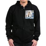 Tinkles Scratching Post Zip Hoodie (dark)