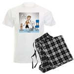 Tinkles Scratching Post Men's Light Pajamas