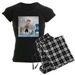 Tinkles Scratching Post Women's Dark Pajamas