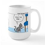 Tinkles Scratching Post Large Mug