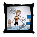 Tinkles Scratching Post Throw Pillow