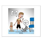Tinkles Scratching Post Small Poster